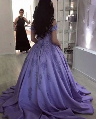 Lavender Evening Dresses Long Cheap | Evening wear with lace_2