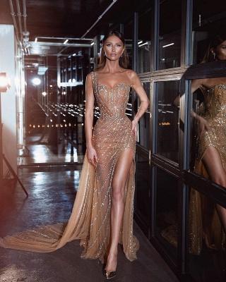 Luxus Abendkleid Lang | Perlen Abiballkleider Abendmoden Online_1