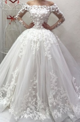 Designer wedding dresses with sleeves | Wedding dresses a line with lace_1
