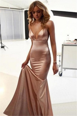 Simple Spaghetti Strap Cheap Long Prom Dresses Evening Gowns_4