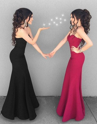 Black Evening Dresses Long Cheap Mermaid Evening Wear Prom Dresses_2