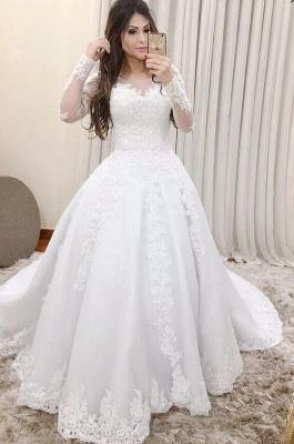 Elegante Hochzeitskleider Mit Ärmel | Spitze Brautkleider Online_2