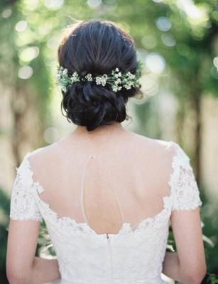 Weiß Brautkleider Mit Ärmel Tüll Etuikleider Hochzeitskleider_3