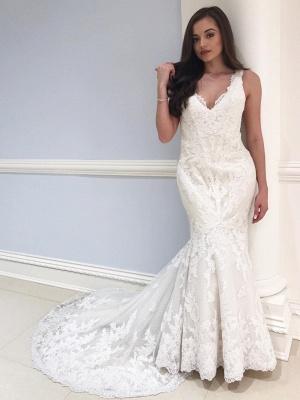 Elegnate Brautkleider Meerjungfrau | Spitze Hochzeitskleider Online_1