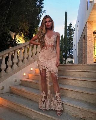Elegante Spitze Abendkleider Lang Günstig Abiballkleider Online_1