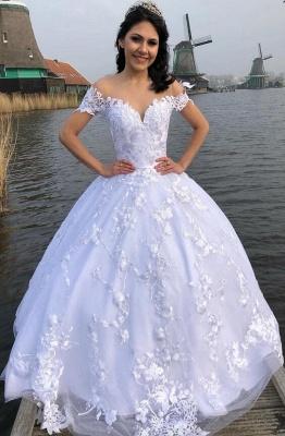 Designer Brautmoden Mit Spitze | Weiße Hochzeitskleider Prinzessin_3