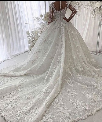 Luxury wedding dresses with lace | Wedding dresses princess with sleeves_2