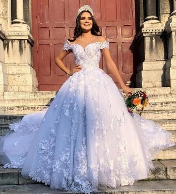 Designer Brautmoden Mit Spitze | Weiße Hochzeitskleider Prinzessin_2