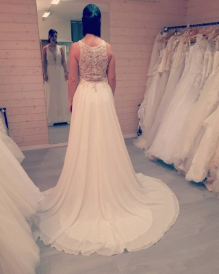 Simple wedding dresses with lace | Wedding dresses A line chiffon_3
