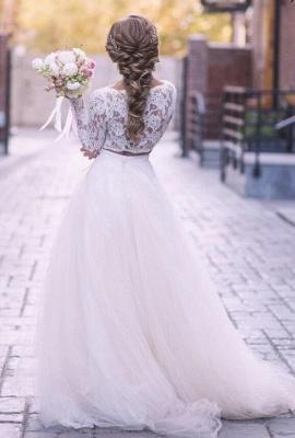 2 Teilig Brautkleider A Linie | Hochzeitskleider Mit Spitze_2
