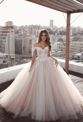 Elegant wedding dress A line | White Wedding Dresses Cheap Online_1