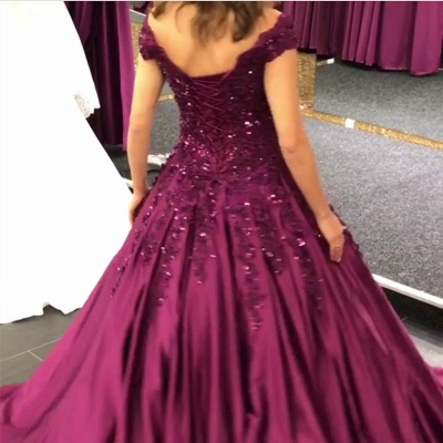 Purple Evening Dresses Prom Dresses Online Lace Evening Wear Cheap Online_3