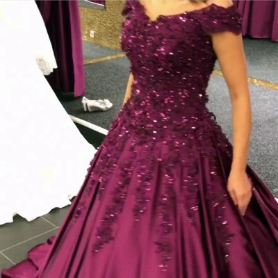 Purple Evening Dresses Prom Dresses Online Lace Evening Wear Cheap Online_5