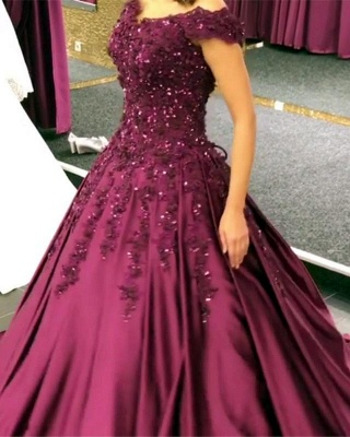 Purple Evening Dresses Prom Dresses Online Lace Evening Wear Cheap Online_1