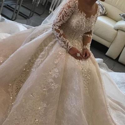 Modern Brautkleider mit Ärmel | Spitze Hochzeitskleider Prinzessin_2