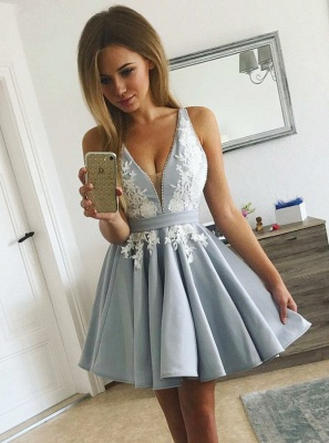 Homecoming Dress Cheap | Cocktail dresses short with lace_2