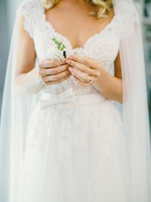 Designer Weiß Brautkleider Mit Spitze Etuikleider Bodenlang Hochzeitskleider Online_2