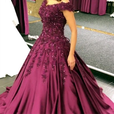 Purple Evening Dresses Prom Dresses Online Lace Evening Wear Cheap Online_2