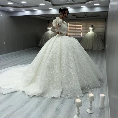 Elegante Brautkleider Luxus | Spitze Hochzeitskleider mit Ärmel_3