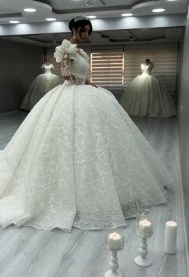 Elegante Brautkleider Luxus | Spitze Hochzeitskleider mit Ärmel_1