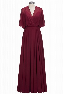 Simple Rote Chiffon Brautmutterkleider Etuikleider Partykleider Hochzeit_1