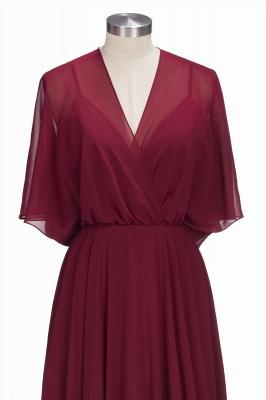 Simple Rote Chiffon Brautmutterkleider Etuikleider Partykleider Hochzeit_4