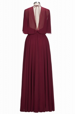 Simple Red Chiffon Mother Of The Bride Dresses Sheath Dresses Party Dresses Wedding_3