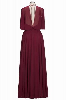 Simple Rote Chiffon Brautmutterkleider Etuikleider Partykleider Hochzeit_3