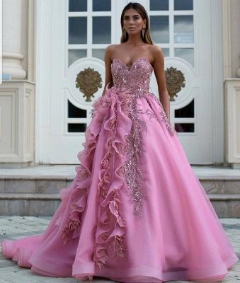 Luxus Abendkleider Lang Rosa | Abendmoden Online Kaufen_2