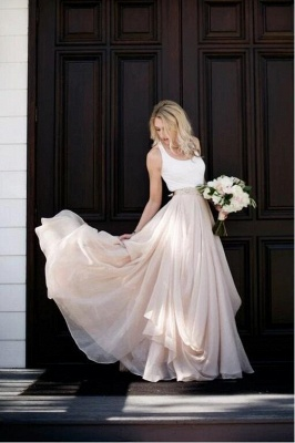 2 colored wedding dresses pink | Cheap Wedding Fashions Online_1