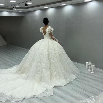 Elegante Brautkleider Luxus | Spitze Hochzeitskleider mit Ärmel_2
