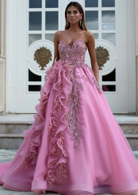 Luxus Abendkleider Lang Rosa | Abendmoden Online Kaufen_1