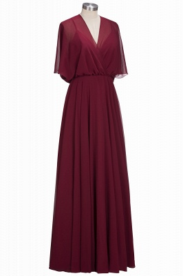 Simple Red Chiffon Mother Of The Bride Dresses Sheath Dresses Party Dresses Wedding_2