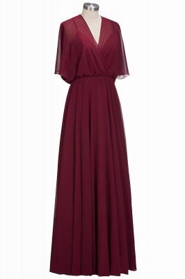 Simple Rote Chiffon Brautmutterkleider Etuikleider Partykleider Hochzeit_2