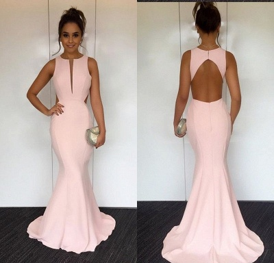 Elegant pink evening dresses long cheap satin prom dresses order online_3