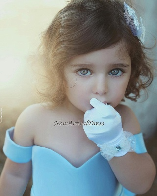 Liebe Baby Blau Kleider für Blumenkinder Günstig Blumenmädchenkleider_1