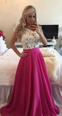 Fuchisa White Prom Dresses Evening Dresses Long Chiffon Cheap Party Dresses_1