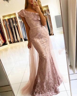 Luxus Abendkleider Spitze | Rosa Abendmoden Günstig Online_1