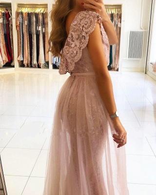 Luxus Abendkleider Spitze | Rosa Abendmoden Günstig Online_2