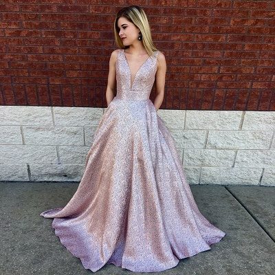 Designer Evening Dress Pink A Line Cheap Prom Dresses Prom Dresses Online_2