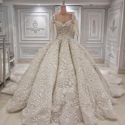 Luxus Brautkleider Prinzessin | Hochzeitskleid Mit Ärmel_2
