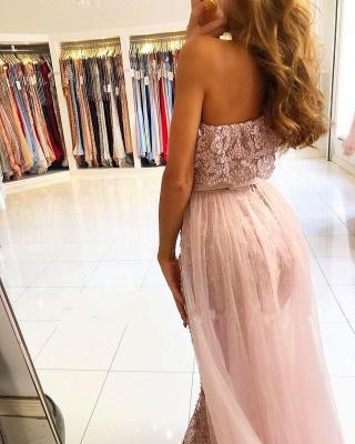 Luxus Abendkleider Spitze | Rosa Abendmoden Günstig Online_3