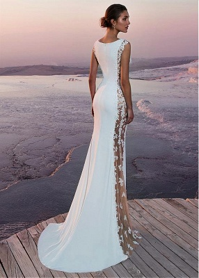 White prom dresses long cheap lace evening dresses evening wear online_3