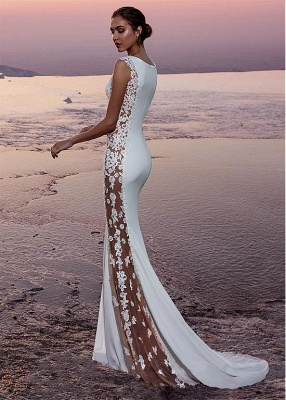 White prom dresses long cheap lace evening dresses evening wear online_2