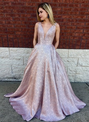 Designer Evening Dress Pink A Line Cheap Prom Dresses Prom Dresses Online_1
