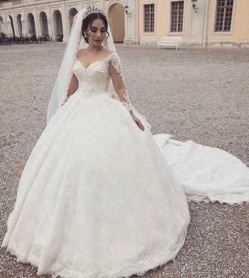 Fashion Hochzeitskleider Mit Ärmel | Prinzessin Brautmoden mit Spitze_2