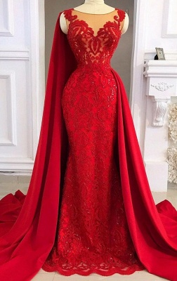 Fashion evening dresses long red | Long glitter lace prom dresses_1