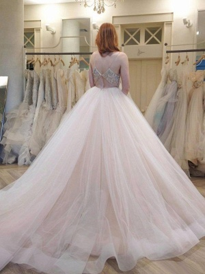 Designer Wedding Dresses White A Line Wedding Dresses Cheap Online_2