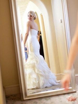 Schlichte Hochzeitskleider Elfenbein Herz Ausschnitt Brautkleider Günstig Online_3