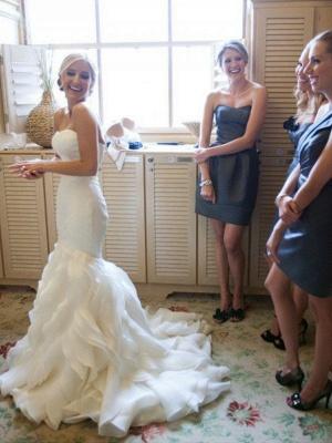 Schlichte Hochzeitskleider Elfenbein Herz Ausschnitt Brautkleider Günstig Online_2